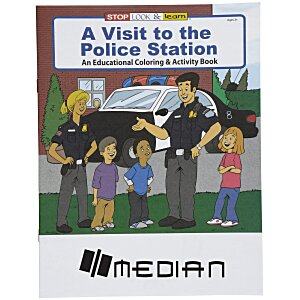 A Visit to the Police Station Coloring Book Main Image