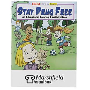 Stay Drug Free Coloring Book Main Image