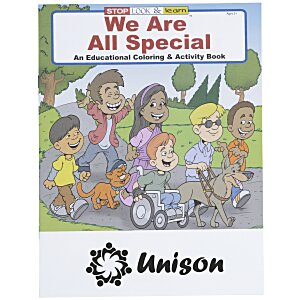 We Are All Special Coloring Book Main Image