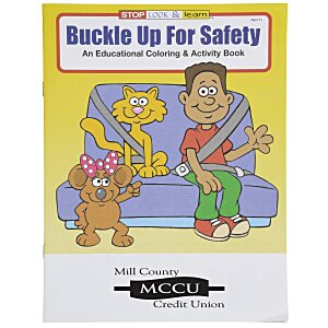 Buckle Up For Safety Coloring Book Main Image
