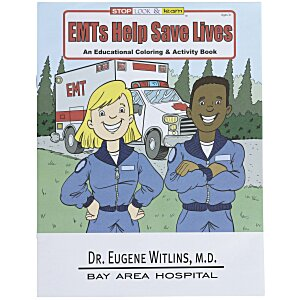 EMT'S Help Save Lives Coloring Book Main Image