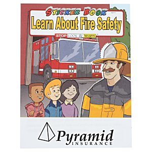 Learn About Fire Safety Sticker Book Main Image