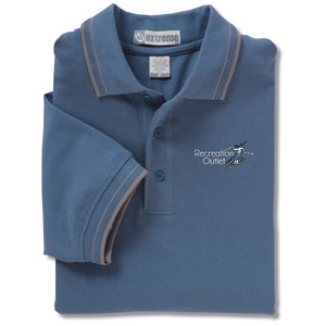 Extreme Pique Polo w/Textured Stripe Trim - Men's Main Image