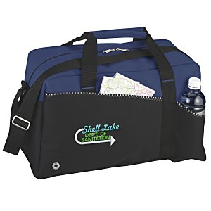 Two-Tone Duffel Bag - Embroidered Main Image