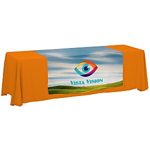 8' Closed-Back Table Throw and Runner Kit - Full Color Main Image