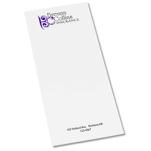 "Notepad - 11"" x 4-1/4"" - 25 sheet"