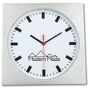 "Square Wall Clock - 12"" Main Image"