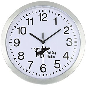 "Metallic Edge Slim Wall Clock - 12"" Main Image"