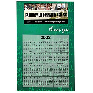Bic 20 mil Calendar Magnet - Thank You Main Image