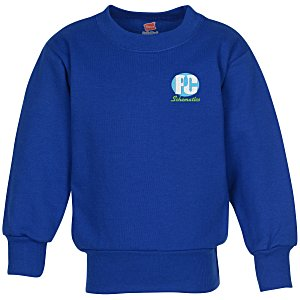Hanes ComfortBlend Sweatshirt - Youth - Embroidered Main Image