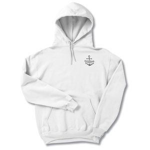Jerzees NuBlend Hooded Sweatshirt - Screen - White Main Image