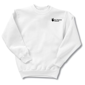 Hanes ComfortBlend Sweatshirt - Youth - Screen - White Main Image