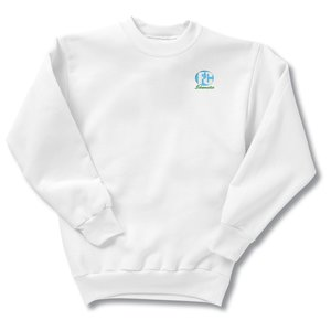 Hanes ComfortBlend Sweatshirt - Youth - Embroidered - White Main Image