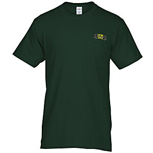 Hanes Tagless Pocket T-Shirt - Embroidered - Colors Main Image
