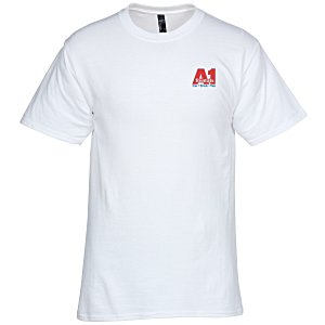 Hanes Beefy-T - Embroidered - White Main Image
