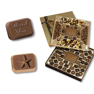 2-Tier Chocolate Treat Box - Thank You & Star