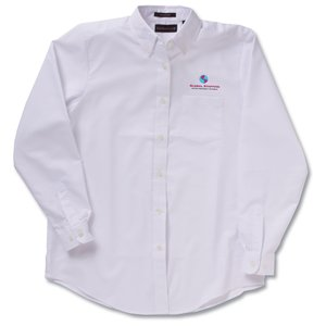 Ultra Club 60/40 Oxford Dress Shirt - Ladies' - White Main Image