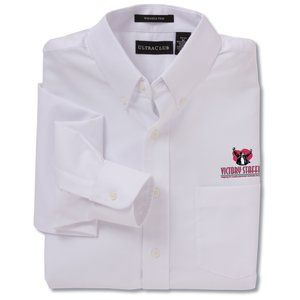Ultra Club 60/40 Oxford Dress Shirt - Men's - White Main Image