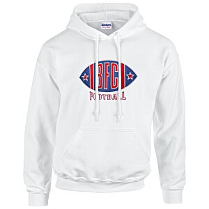 Gildan 50/50 Hooded Sweatshirt - Applique Twill - White Main Image