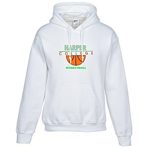 Gildan 50/50 Heavyweight Hoodie - Applique Felt - White