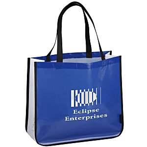 "Laminated Polypropylene Shopper Tote - 14"" x 16"" - Colored Main Image"