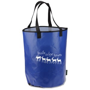 Laminated Polypropylene Basket Tote Main Image