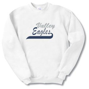 Hanes Comfortblend Sweatshirt - Applique Twill - White Main Image