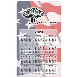 Bic 20 mil Calendar Magnet – Medium – Waving Flag Main Image