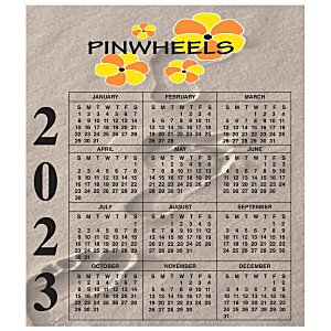 Bic 20 mil Calendar Magnet – Small – Footprints Main Image