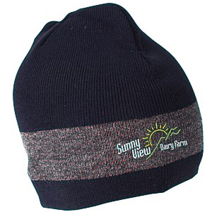 Fine Knit Single Stripe Beanie Main Image