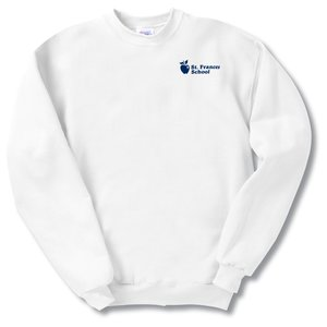 Hanes ComfortBlend Sweatshirt - Screen - White Main Image