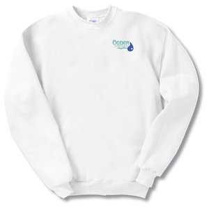 Hanes ComfortBlend Sweatshirt - Embroidered - White Main Image