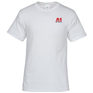 Hanes 50/50 ComfortBlend T-Shirt - Embroidered - White Main Image