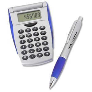 Flip-n-Fold Calculator Set with Curvy Pen Main Image