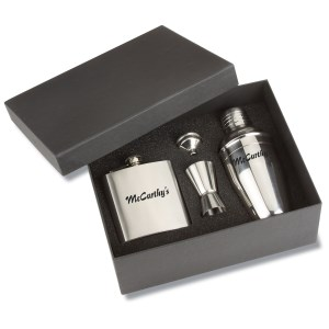 Bar Time Shaker and Flask Gift Set Main Image