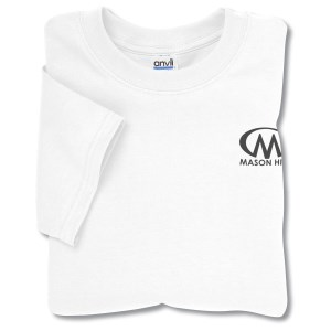 Anvil 5.4 oz. Cotton T-Shirt - White Main Image