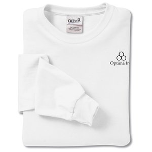Anvil 5.4 oz. LS T-Shirt w/TearAway Label - White Main Image