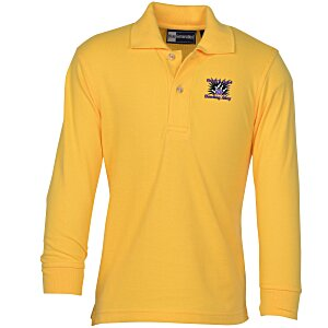 Superblend Long Sleeve Pique Polo - Youth Main Image