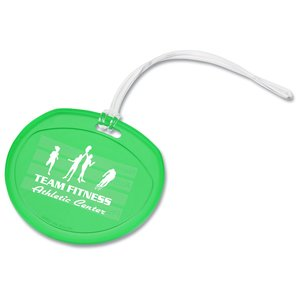 Traveler Round Luggage Tag - Translucent Main Image