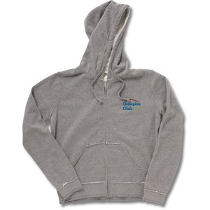 Raw Edge Full-Zip Hooded Sweatshirt - Ladies' Main Image