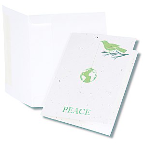 Seeded Holiday Card - Peace Main Image