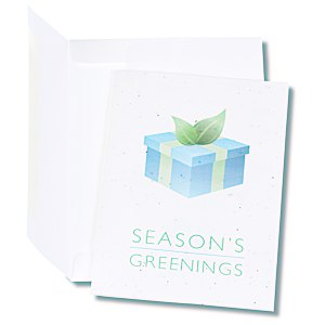 Seeded Holiday Card - Season's Greenings Package Main Image