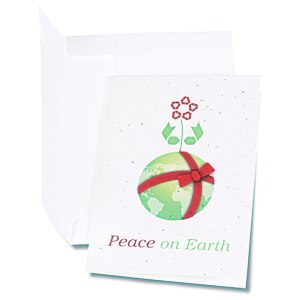 Seeded Holiday Card - Peace on Earth Main Image