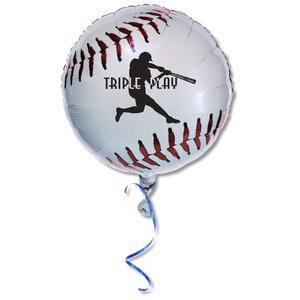 "Mylar Balloon - 18"" - Baseball Main Image"