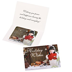 Greeting Card with Magnetic Calendar - Snowman Main Image
