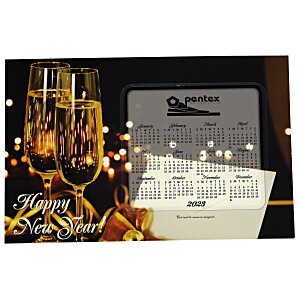 Greeting Card with Magnetic Calendar - Champagne Main Image