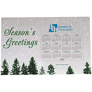 Greeting Card with Magnetic Calendar - Snowfall Main Image