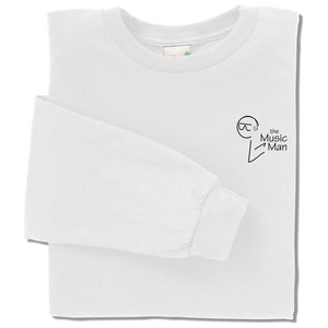 Anvil Organic 5 oz. Long-Sleeve T-Shirt - White Main Image