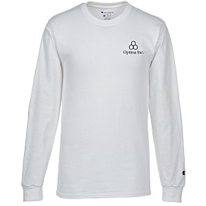 Champion Long-Sleeve Tagless T-Shirt - White Main Image