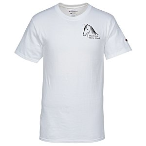 Champion Tagless T-Shirt - Screen - White Main Image